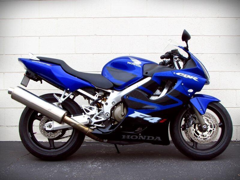 Синяя honda cbr600f4i фото