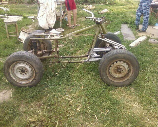 Cамодельный квадроцикл из Урала фото
