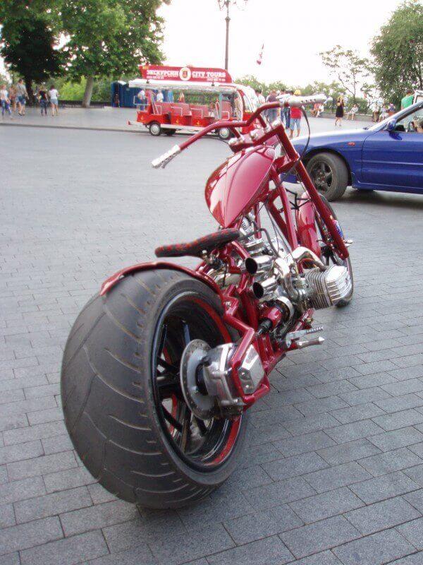 Тюнинг Днепра - широкое заднее колесо