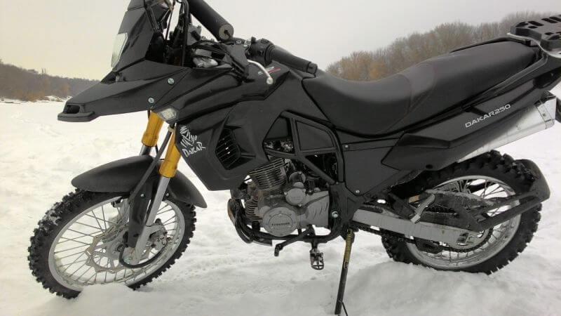 dakar 250 зимой